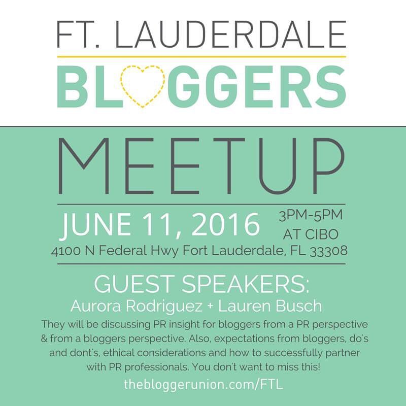June Ft. Lauderdale Bloggers Meetup