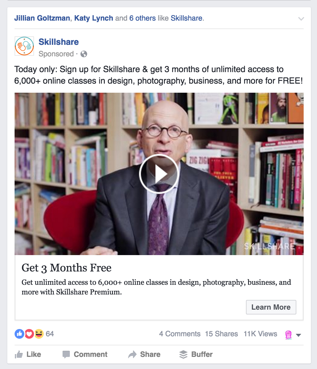 Facebook Ads Get More Video Views Objective Example