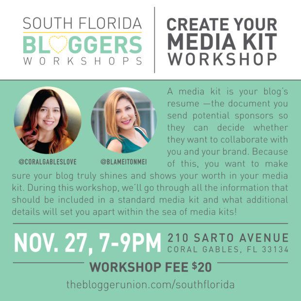 Create Your Media Kit Workshop