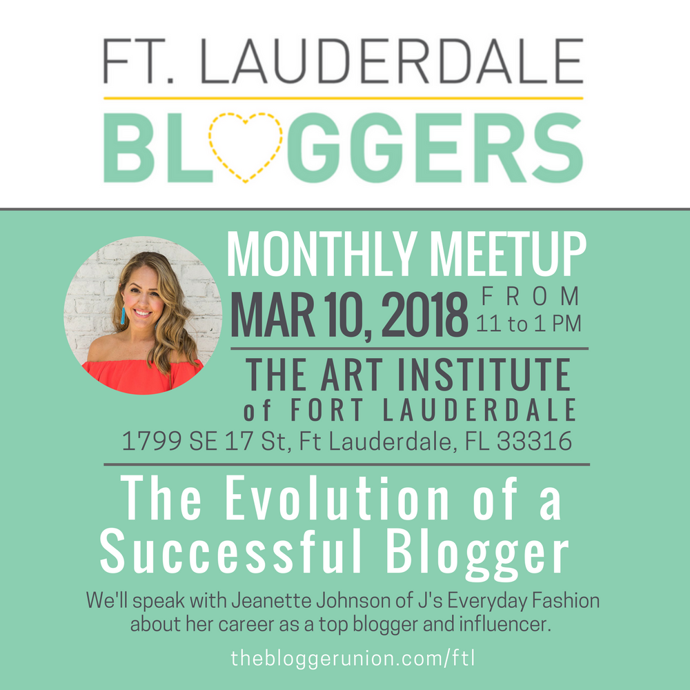 Ft Lauderdaale Bloggers speak to Jeanette Johnson about the Evolution of a Successful Blogger.