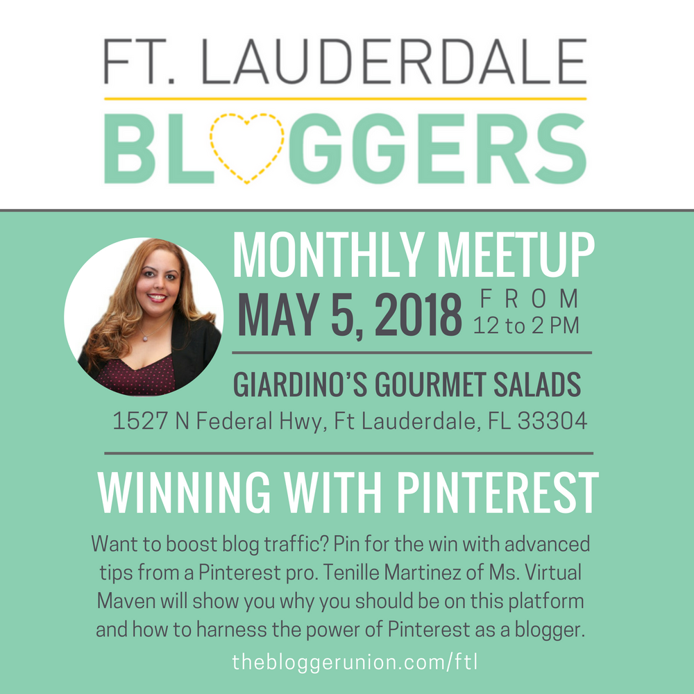 Broward and Palm Beach Blogger Event on Pinterest for Bloggers.