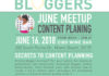 Miami Bloggers Meetup June 2018 Content Planning