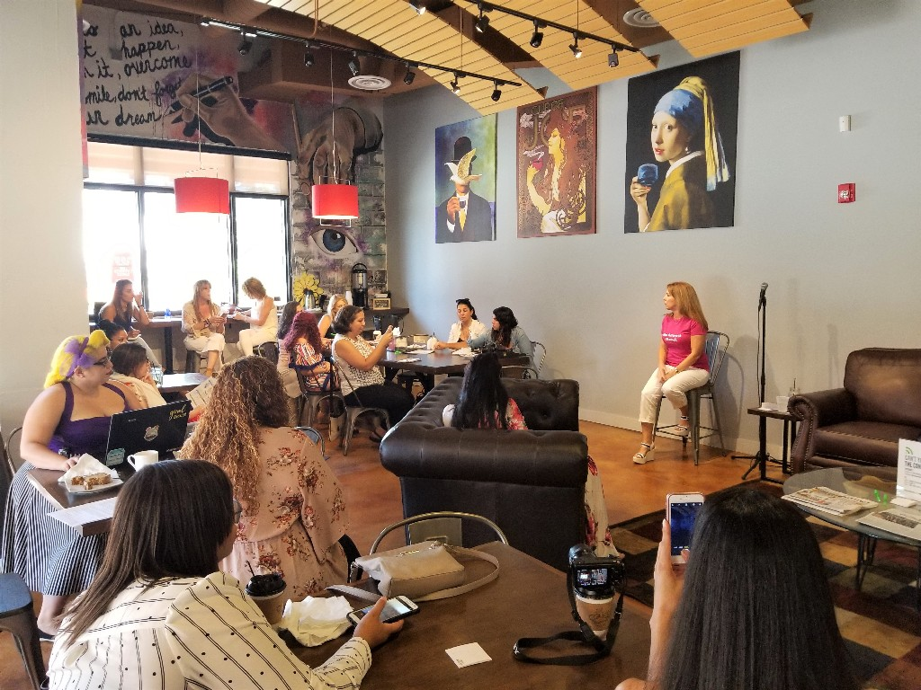 Blogger meetup at Cafe Collective in Ft Lauderdale
