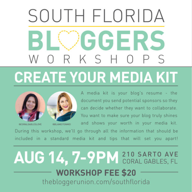 Miami Bloggers Workshop: Learn How To Create a Professional and Effective Media Kit